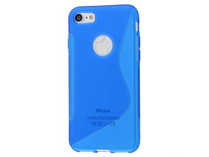 Wave Case for iPhone 8/7 - Frosted Blue/Blue Soft Cover