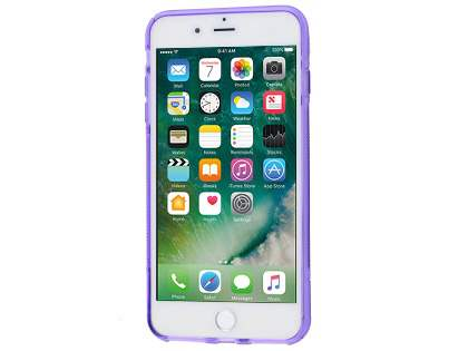 iPhone 7 Plus Wave Case - Frosted Purple/Purple