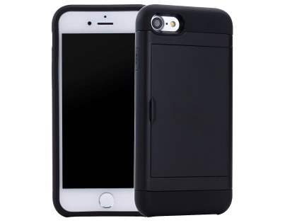 iPhone 7 4.7 inches Impact Case with Card Pocket - Classic Black