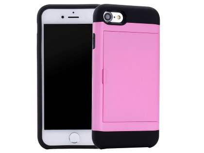 Impact Case with Card Pocket for iPhone 8/7 - Pink Impact Case