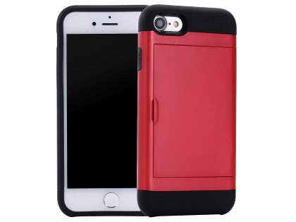 iPhone 7 4.7 inches Impact Case with Card Pocket - Red