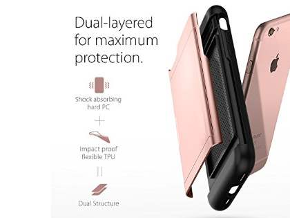 Impact Case with Card Pocket for iPhone 8/7 - Rose Gold