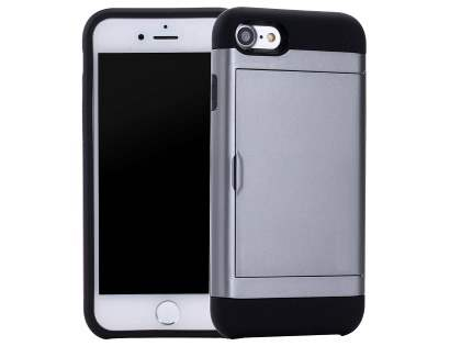 Impact Case with Card Pocket for iPhone 8/7 - Grey