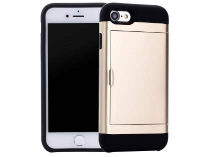 iPhone 7 4.7 inches Impact Case with Card Pocket - Gold
