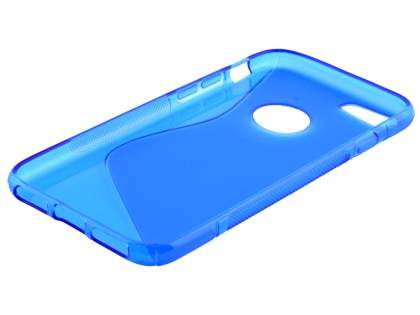 iPhone 7 4.7 inches Wave Case - Frosted Blue/Blue