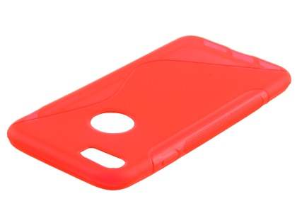 iPhone 7 4.7 inches Wave Case - Frosted Red/Red
