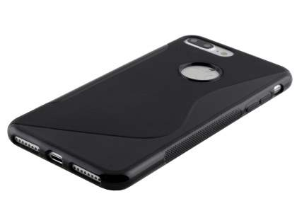 iPhone 7 Plus Wave Case - Frosted Black/Black