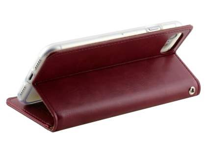 Mercury Blue Moon Wallet Case for iPhone 7 4.7 inches - Burgundy