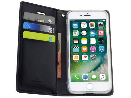Mercury Blue Moon Wallet Case for iPhone 7 Plus - Classic Black