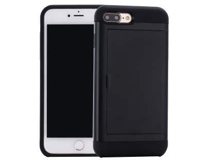Impact Case with Card Pocket for iPhone 8 Plus/7 Plus - Black