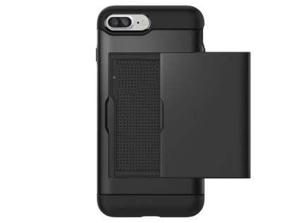 iPhone 7 Plus Impact Case with Card Pocket - Grey