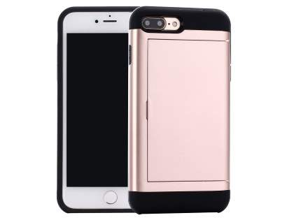iPhone 7 Plus Impact Case with Card Pocket - Rose Gold