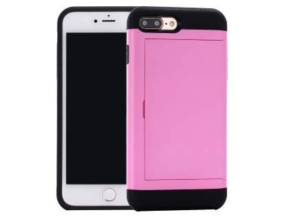 iPhone 7 Plus Impact Case with Card Pocket - Pink