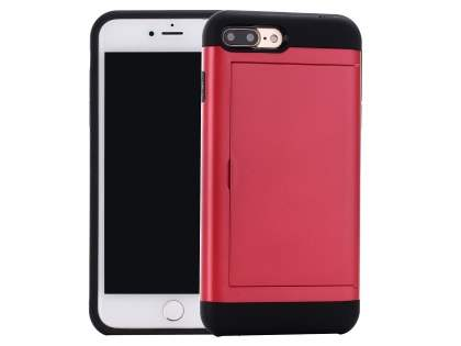 Impact Case with Card Pocket for iPhone 8 Plus/7 Plus - Red