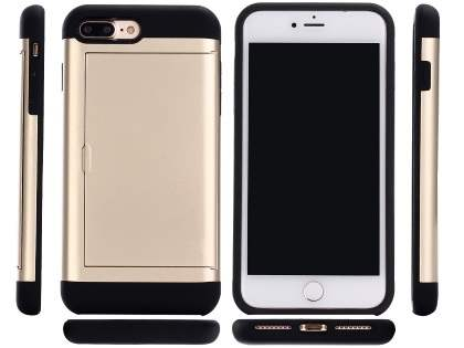 Impact Case with Card Pocket for iPhone 8 Plus/7 Plus - Gold