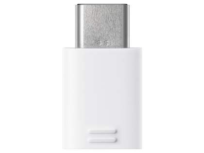 Genuine Samsung USB-C (Also Known as USB Type-C) to Micro USB adapter - White Cable & Adapter