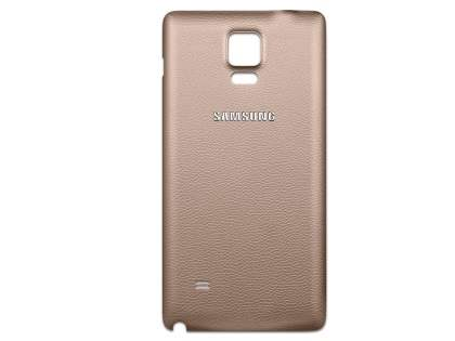 Genuine Samsung Galaxy Note 4 Battery Cover - Copper Gold Battery Cover