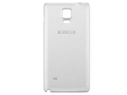 Genuine Samsung Galaxy Note 4 Battery Cover - White Battery Cover