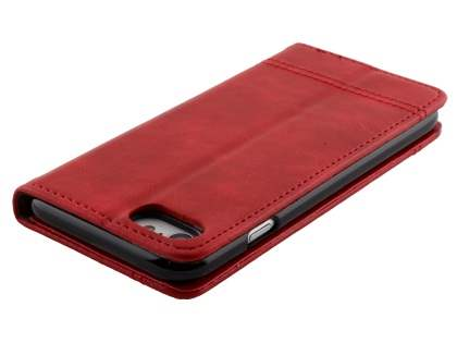 Slim Synthetic Leather Portfolio Case with Stand for iPhone 8/7 - Red