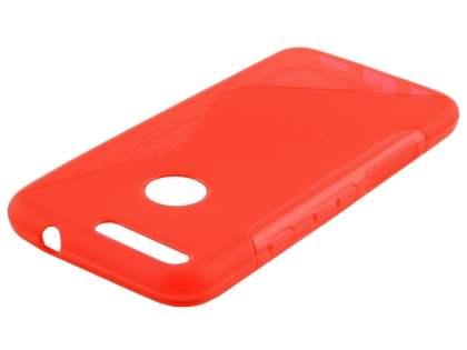 Wave Case for Google Pixel - Frosted Red/Red Soft Cover