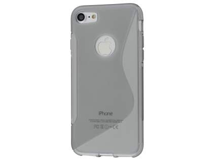 Wave Case for iPhone 8/7 - Frosted Grey/Grey Soft Cover