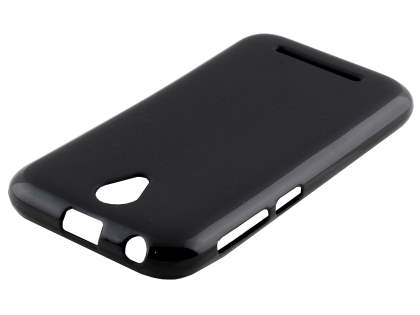 Frosted TPU Gel Case for ZTE ZIP - Classic Black Soft Cover