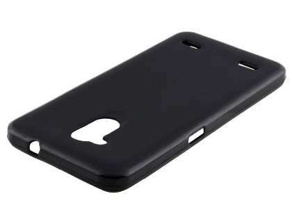 Frosted TPU Gel Case for ZTE Blitz - Classic Black Soft Cover