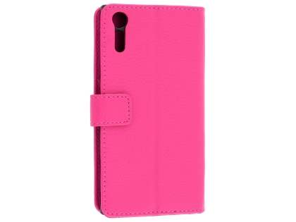 Slim Synthetic Leather Wallet Case with Stand for Sony Xperia XZ - Pink Leather Wallet Case