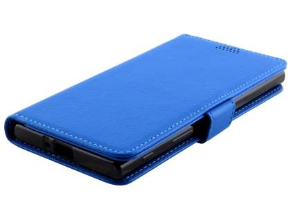 Slim Synthetic Leather Wallet Case with Stand for Sony Xperia XZ - Blue