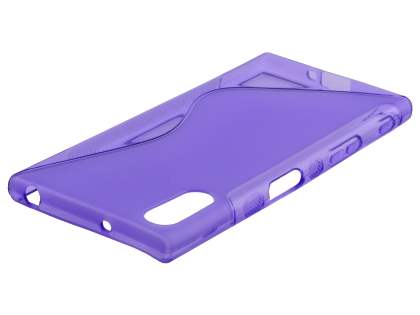 Wave Case for Sony Xperia XZ - Frosted Purple/Purple Soft Cover