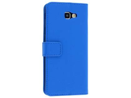 Synthetic Leather Wallet Case with Stand for Samsung Galaxy J5 Prime - Blue Leather Wallet Case