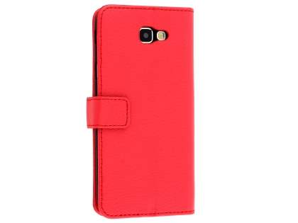 Synthetic Leather Wallet Case with Stand for Samsung Galaxy J5 Prime - Red Leather Wallet Case