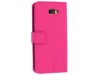 Synthetic Leather Wallet Case with Stand for Samsung Galaxy J5 Prime - Pink Leather Wallet Case