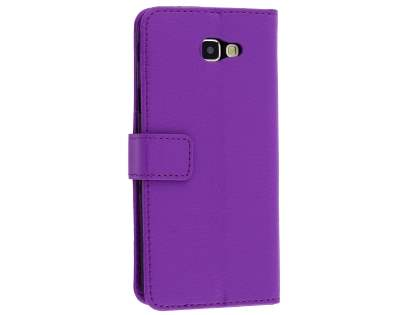 Synthetic Leather Wallet Case with Stand for Samsung Galaxy J5 Prime - Purple Leather Wallet Case