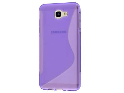 Wave Case for Samsung Galaxy J5 Prime - Frosted Purple/Purple Soft Cover