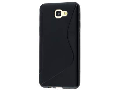 Wave Case for Samsung Galaxy J5 Prime - Frosted Black/Black Soft Cover