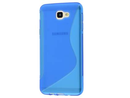 Wave Case for Samsung Galaxy J5 Prime - Frosted Blue/Blue Soft Cover
