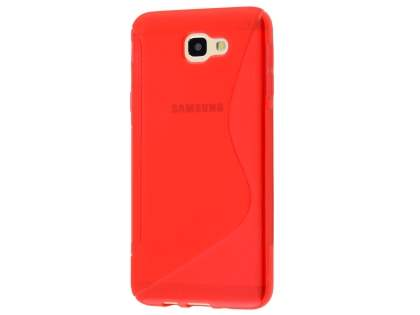 Wave Case for Samsung Galaxy J5 Prime - Frosted Red/Red Soft Cover