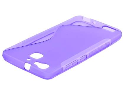 Wave Case for Huawei GR3 - Frosted Purple/Purple Soft Cover