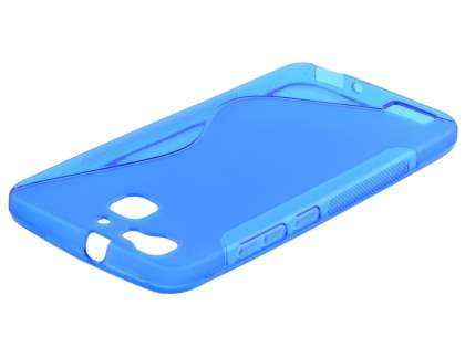 Wave Case for Huawei GR3 - Frosted Blue/Blue Soft Cover