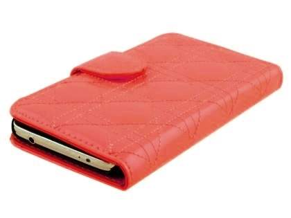 Synthetic Leather Wallet Case for Samsung Galaxy S5 - Tea Rose