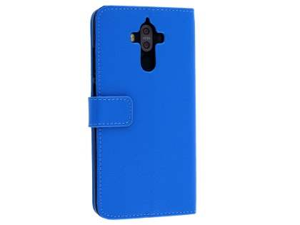 Synthetic Leather Wallet Case with Stand for Huawei Mate 9 - Blue Leather Wallet Case