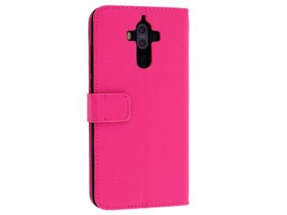 Synthetic Leather Wallet Case with Stand for Huawei Mate 9 - Pink Leather Wallet Case