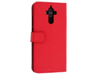 Synthetic Leather Wallet Case with Stand for Huawei Mate 9 - Red Leather Wallet Case