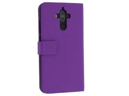 Synthetic Leather Wallet Case with Stand for Huawei Mate 9 - Purple Leather Wallet Case