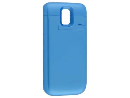 4800mAh Power Case Battery with Stand for Samsung Galaxy S5 - Blue Case Battery