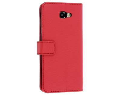 Synthetic Leather Wallet Case with Stand for Samsung Galaxy A5 (2017) - Red Leather Wallet Case