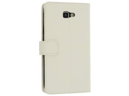 Synthetic Leather Wallet Case with Stand for Samsung Galaxy A7 (2017) - White Leather Wallet Case