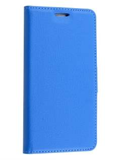 Slim Synthetic Leather Wallet Case with Stand for Samsung Galaxy J1 (2016) - Blue