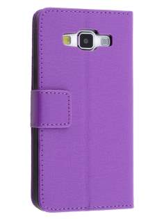 Slim Synthetic Leather Wallet Case with Stand for Samsung Galaxy J1 (2016) - Purple Leather Wallet Case